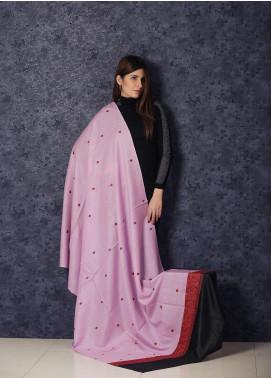 Sanaulla Exclusive Range Embroidered Pashmina  Shawl AKP-366 Black - Kashmiri Shawls