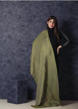 Sanaulla Exclusive Range Embroidered Pashmina  Shawl MIR-16 Green - Kashmiri Shawls