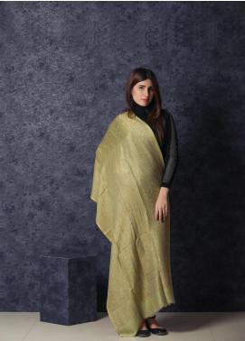 Sanaulla Exclusive Range Embroidered Pashmina  Shawl MIR-17 Green - Kashmiri Shawls