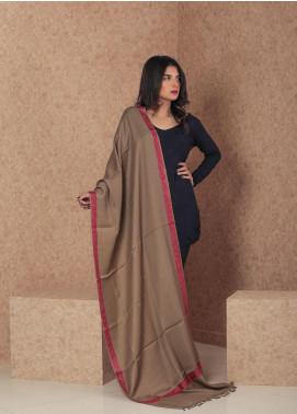 Sanaulla Exclusive Range Embroidered Pashmina  Shawl MIR-32 Fawn - Kashmiri Shawls