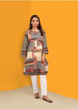 Waniya Printed Stitched Kurtis PK-033 CHECK BEIGE