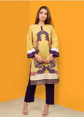 Waniya Printed Stitched Kurtis PK-036 YELLOW