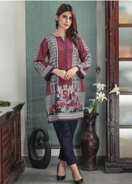 Waniya Printed Cotton Stitched Kurtis PK-157 RED