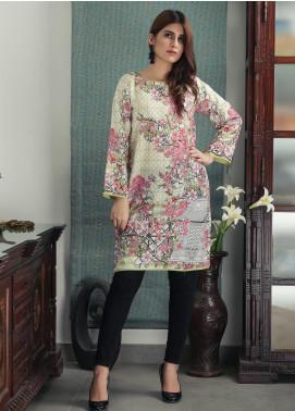 Waniya Printed Cotton Stitched Kurtis PK-158 FLORAL GREEN