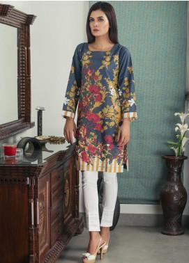 Waniya Printed Cotton Stitched Kurtis PK-161 FLORAL BLUE