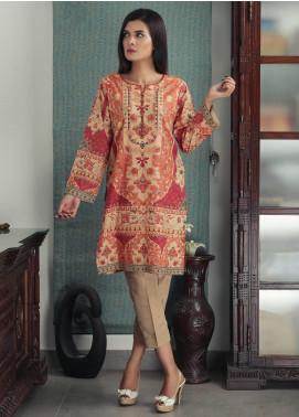 Waniya Printed Cotton Stitched Kurtis PK-164 ORANGE