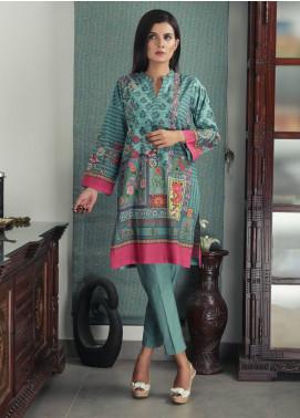 Waniya Printed Cotton Stitched Kurtis PK-165 TURQUOISE PANACHE