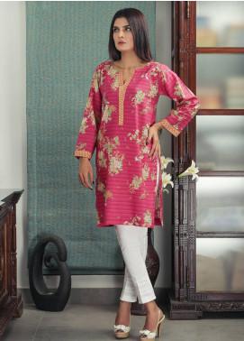 Waniya Printed Cotton Stitched Kurtis PK-168 RED