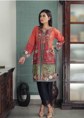 Waniya Printed Cotton Stitched Kurtis PK-169 BLOOMING TANGERINE