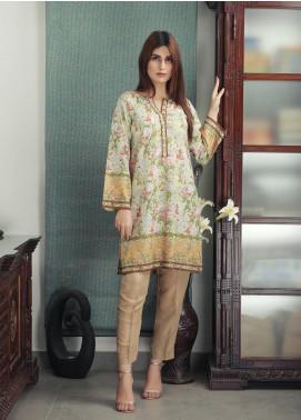 Waniya Printed Cotton Stitched Kurtis PK-172 WINTER GREEN