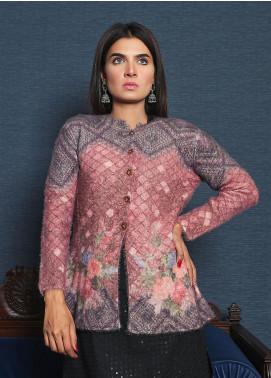 Sanaulla Exclusive Range Textured Acrylic Free Size Sweaters 19-F012-2-Pink - Winter Collection