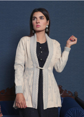 Sanaulla Exclusive Range Textured Acrylic Free Size Sweaters 19-F065-2-Light Grey - Winter Collection