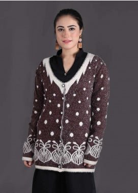 Sanaulla Exclusive Range Textured Woollen Free Size Sweaters SA18S 11 - Winter Collection
