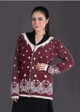 Sanaulla Exclusive Range Textured Woollen Free Size Sweaters SA18S 12 - Winter Collection