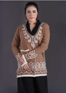 Sanaulla Exclusive Range Textured Woollen Free Size Sweaters SA18S 13 - Winter Collection