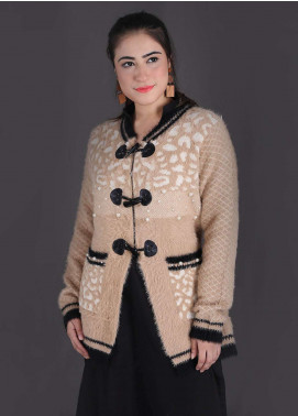 Sanaulla Exclusive Range Textured Woollen Free Size Sweaters SA18S 23 - Winter Collection