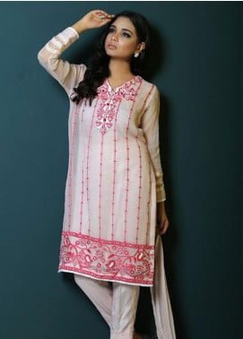 Asma Emran Embroidered Chiffon Stitched 3 Piece Suit EP-006 Dancing Flowers