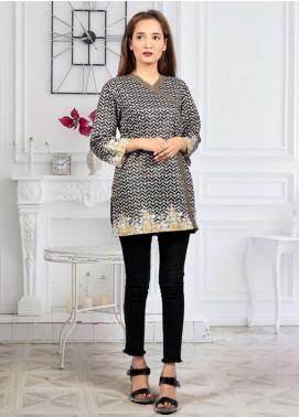 Waniya Printed Stitched Kurtis PT-027 BLACK