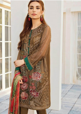 XENIA Formals Embroidered Chiffon Stitched 3 Piece Suit XE19-F2 01 PURE LOVE