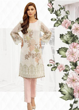 XENIA Formals Embroidered Chiffon Stitched 2 Piece Suit XE19-F2 02 CYRA