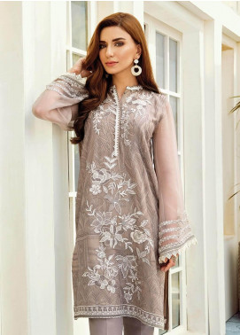 XENIA Formals Embroidered Chiffon Stitched 2 Piece Suit XE19-F2 04 DOVE