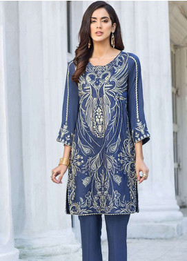 Xenia Formals Embroidered Raw Silk Stitched 2 Piece Suit XE19-P5 03 SERENA