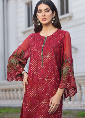 Xenia Formals Embroidered Chiffon Stitched 2 Piece Suit XE19-P5 05 BRINK
