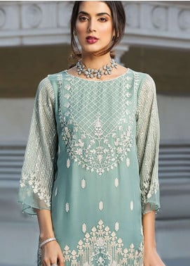 Xenia Formals Embroidered Chiffon Stitched 2 Piece Suit XE19-P5 08 GRACEN