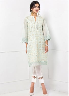 XENIA Formals Embroidered Cotton Net Stitched 2 Piece Suit XE20F 03-JADA