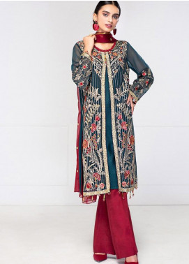 XENIA Formals Embroidered Chiffon Stitched 3 Piece Suit XE20F 09-DELPH