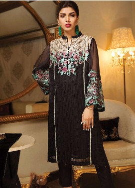 XENIA Formals Embroidered Chiffon Stitched 2 Piece Suit XE19-P4 010 CALLI CHIC