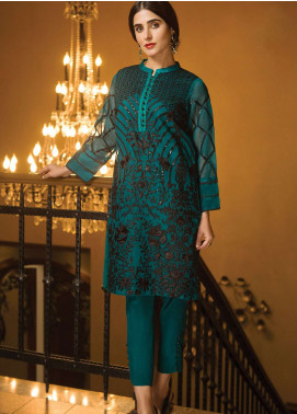 XENIA Formals Embroidered Khaadi Net Stitched 2 Piece Suit XE19-P4 08 ELLEN