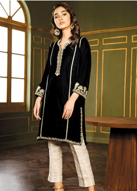 XENIA Formals Embroidered Velvet Stitched 2 Piece Suit XE19WE 03 POTPURRI