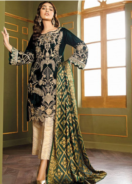 XENIA Formals Embroidered Velvet Stitched 3 Piece Suit XE19WE 04 OMAIRAH