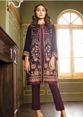XENIA Formals Embroidered Velvet Stitched 2 Piece Suit XE19WE 05 DANDELION NOIR