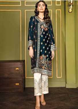 XENIA Formals Embroidered Velvet Stitched 2 Piece Suit XE19WE 06 HANOI