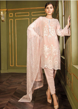 XENIA Formals Embroidered Chiffon Stitched 3 Piece Suit XE19WE 08 BRUSH STROKE
