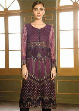 XENIA Formals Embroidered Chiffon Stitched 2 Piece Suit XE19WE 10 KAVEH