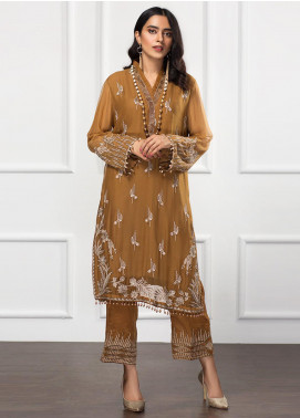 Xenia Formals Embroidered Chiffon Stitched 2 Piece Suit XF21P MAJESTIC TUSCAN XFR-20-1411