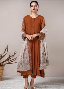 Xenia Formals Embroidered Chiffon Stitched 3 Piece Suit XF21P OMBRE XFR-20-168