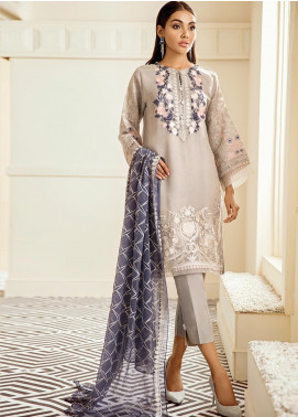 XENIA Formals Embroidered Chiffon Stitched 3 Piece Suit XE19FR 08 JAUNE SAUVAGE