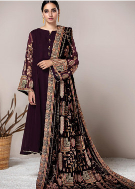 XENIA Formals Embroidered Velvet Stitched 3 Piece Suit XE20V 01 BATIK