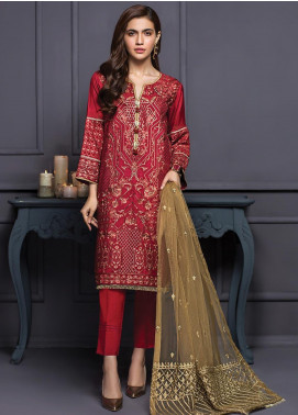 XENIA Formals Embroidered  Stitched 3 Piece Suit XE20SS 01 MALIR