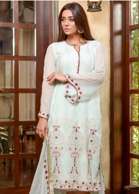 Yasmeen Arif by Al Dawood Textiles Embroidered Chiffon Unstitched 3 Piece Suit AD20YA AD-02 - Festive Collection
