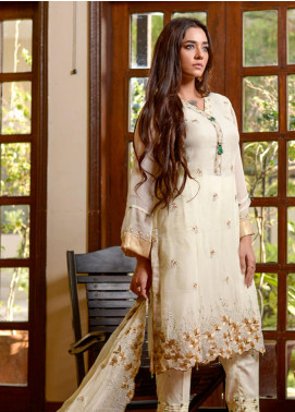 Yasmeen Arif by Al Dawood Textiles Embroidered Chiffon Unstitched 3 Piece Suit AD20YA AD-04 - Festive Collection