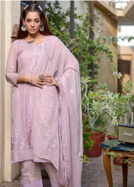 Yasmeen Arif by Al Dawood Textiles Embroidered Chiffon Unstitched 3 Piece Suit AD20YA AD-05 - Festive Collection