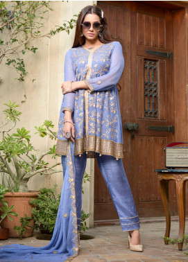 Yasmeen Arif by Al Dawood Textiles Embroidered Chiffon Unstitched 3 Piece Suit AD20YA AD-06 - Festive Collection