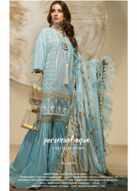 Yes Clothing | Yes - Young Energetic Social Embroidered Lawn Unstitched 3 Piece Suit YS20F L-01 - Luxury Cllection