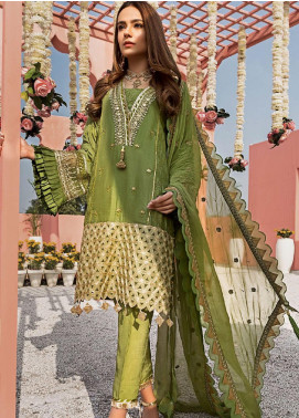 Yes Clothing | Yes - Young Energetic Social Embroidered Cotton Net Unstitched 3 Piece Suit YS20FL 2 - Luxury Collection