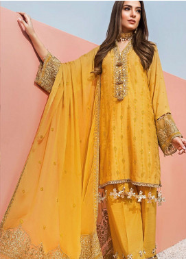 Yes Clothing | Yes - Young Energetic Social Embroidered Cotton Net Unstitched 3 Piece Suit YS20FL 4 - Luxury Collection